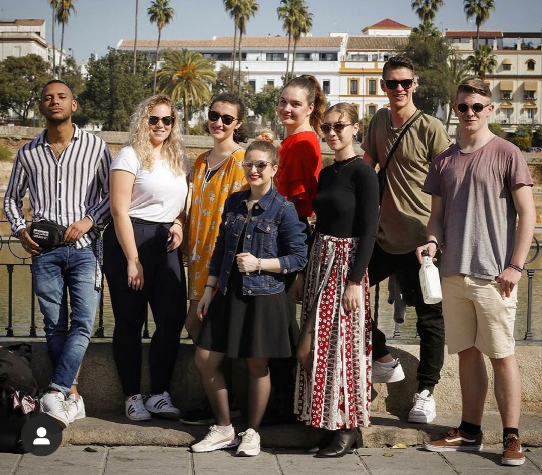 German students in Seville