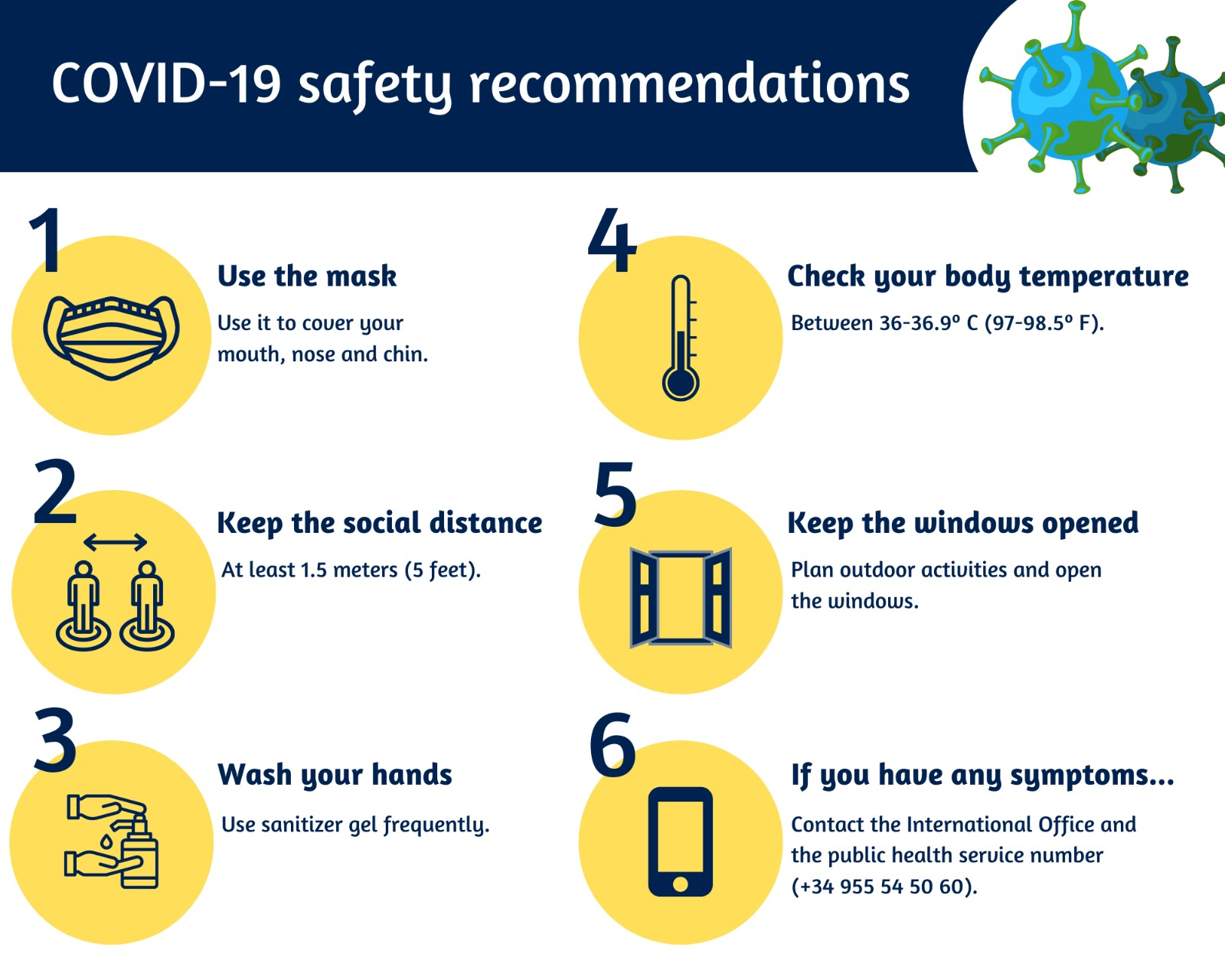 COVID-19 safety recommendations